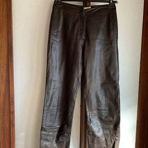 Max Mara chocolate brown leather pants